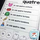 Fluidité en lecture | Les Nombres - French Reading Fluency Practice Sheets