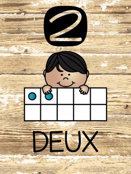 Les Nombres Un à Dix - Des Affiches (French Number Posters)