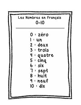 Les Nombres en Français: Zéro à Cent (Numbers in French: Zero to One Hundred)