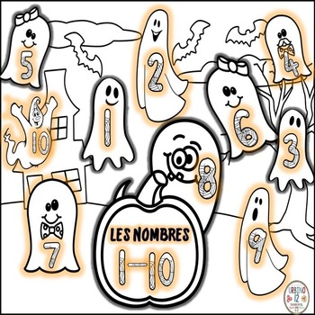 Les Nombres pour Halloween en français