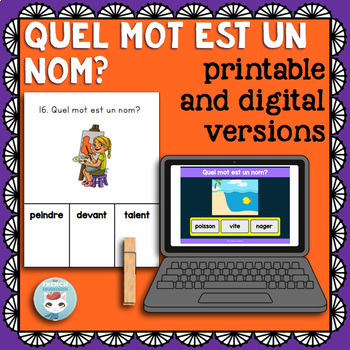 Noms CLIP CARDS: French nouns
