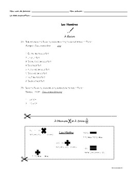 Les Numéros - Les Maths - À Écrire