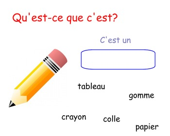 Les Objets de la Classe Smart Board Activity