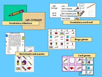 Les Objets de la Salle de Classe BUNDLE -French Classroom Objects