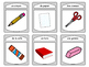 Les Objets de la Salle de Classe Spoons Card Game-French Classroom Objects Vocab