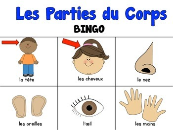 Les Parties Du Corp {Bingo Game & Flash Cards}