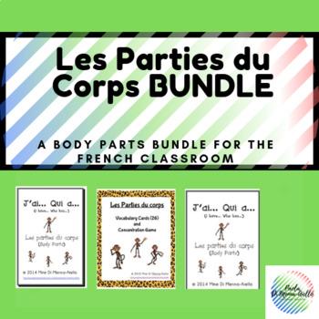 Les Parties du Corps Bundle/Body Parts Bundle (FRENCH)