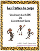 Les Parties du Corps Flashcards and Concentration Game FRENCH