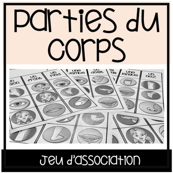 Les Parties du Corps jeu d'association