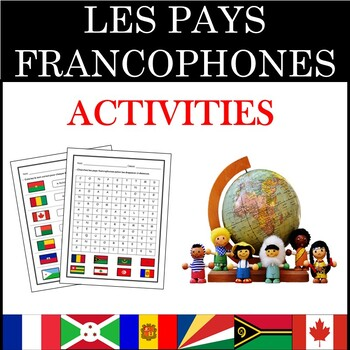 French Speaking Countries Les Pays Francophones Activities Tpt
