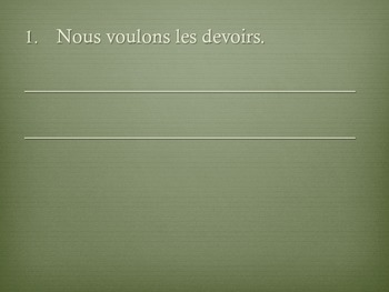 Les Phrases Negatives/Negative Sentences in French