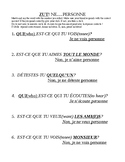 Les Phrases Negatives (RIEN and PERSONNE) - ZUT/GAME