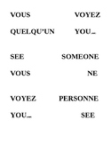 Les Phrases Negatives (ne...personne) - phrases coupees