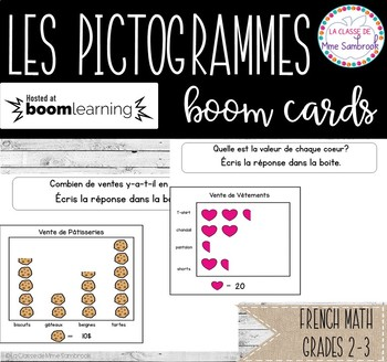 Les Pictogrammes  Data Mgmt. I French Math Boom Cards