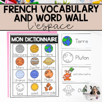 Les Planètes: vocabulary cards