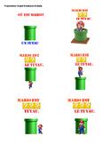 FRENCH/FSL Les Prépositions avec Super Mario