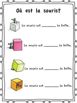 les prepositions de lieu free handout for core french or french immersion. Black Bedroom Furniture Sets. Home Design Ideas