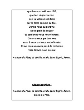 Les Prieres - Prayers in French