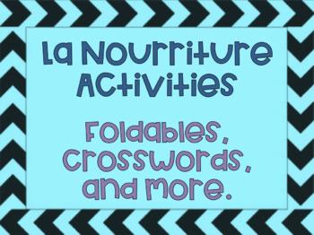 Les Repas Foldable- Food, La Nourriture Core French