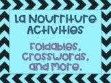 La Nourriture Core French Food Activities
