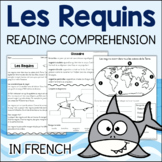 Les Requins FRENCH Reading Comprehension Activities Sharks