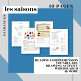 Les Saisons en francais - French Seasons - Worksheets and Activities