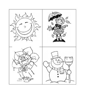 Les Saisons/The Seasons French Vocabulary Cut Out & Match Activity