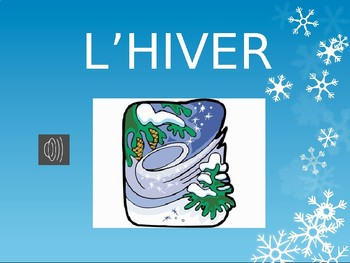 Les Saisons/The Seasons French Vocabulary Flashcards