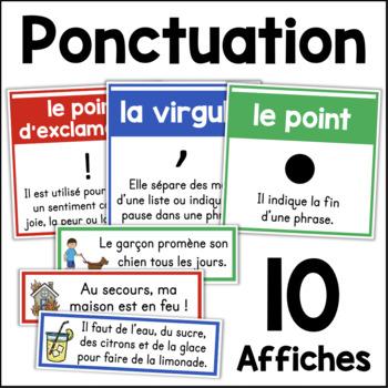 Les signes de ponctuation - Affiches - French Punctuation Posters