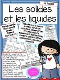 Les Solides et les Liquides- Grade 2 French Science Bundle