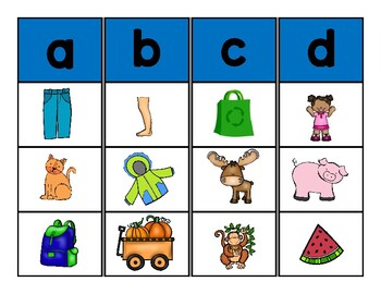 Les Sons Initiaux et Finaux - FRENCH - Initial and Final Sound Sort Cards