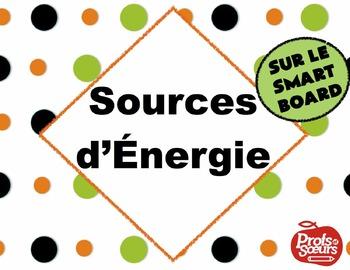 Les Sources d'énergie // Leçon sur Notebook