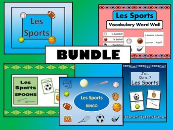 Les Sports BUNDLE- French Sports Vocabulary
