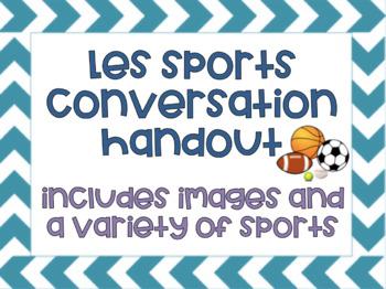 Les Sports Conversation Sheet