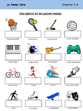 Les Sports et les Passe-temps Vocabulary Organizer (Bien Dit! 1 Ch. 5)