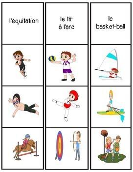 Les Sports - Jeu d'association
