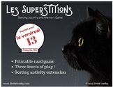 Les Superstitions Memory Game & Sorting Activity French Ve