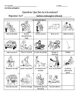 Les Tâches Ménagères - French Chores