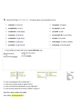 Les Verbes Pronominaux (Reflexive Verbs) - Lesson + Excercises