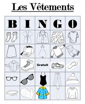 Les Vêtements - BINGO
