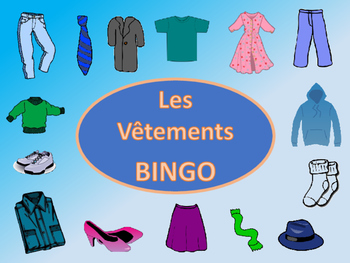 Les Vêtements Bingo – The Clothing Vocabulary in French