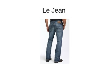 Les Vetements Clothing French Powerpoint