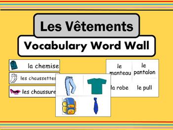 Les Vêtements Vocabulary Word Wall – Clothing Vocabulary i