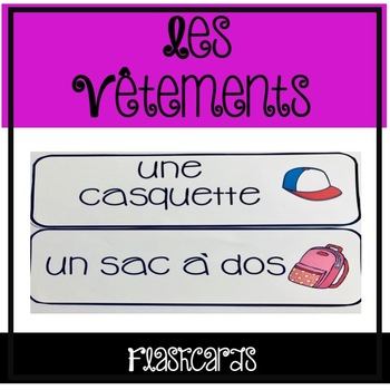Les Vêtements - Flashcards
