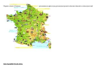 Les Villes en France - Research activity