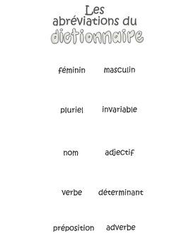 Les abréviations du dictionnaire - Aide-mémoire interactif