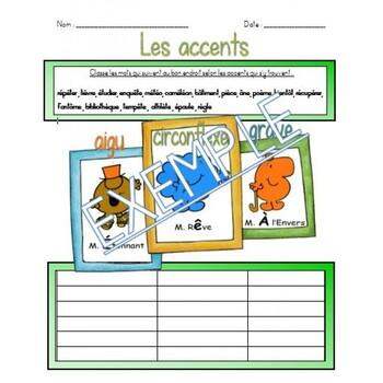 Les accents (Français)