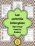 Les activités brise-glace - French Ice Breakers for the St