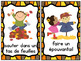 Les activités d'automne:  Mini Autumn (Fall) Activity Posters in French