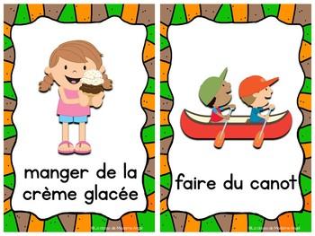 Les activités d'été:  Mini Summer Activity Posters in French